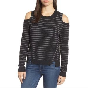 Lucky Brand Stripe Cold Shoulder Pullover XL